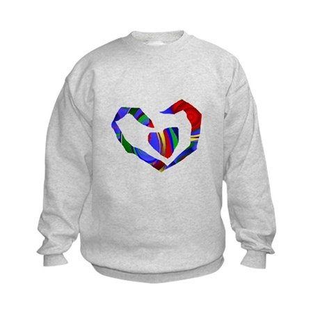 Abstract Heart Kids Sweatshirt