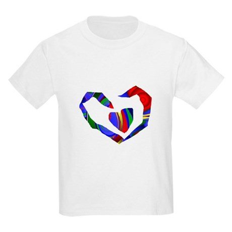 Abstract Heart Kids Light T-Shirt