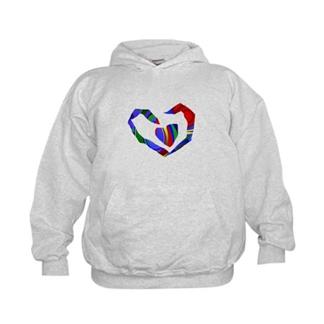Abstract Heart Kids Hoodie