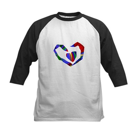 Abstract Heart Kids Baseball Jersey