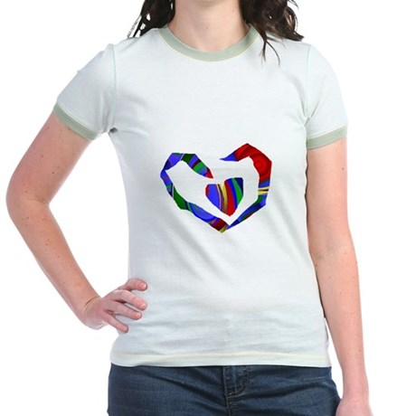 Abstract Heart Jr. Ringer T-Shirt
