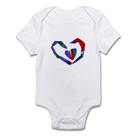 Abstract Heart Infant Bodysuit