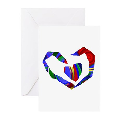 Abstract Heart Greeting Cards (Pk of 20)