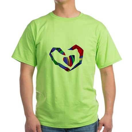 Abstract Heart Green T-Shirt