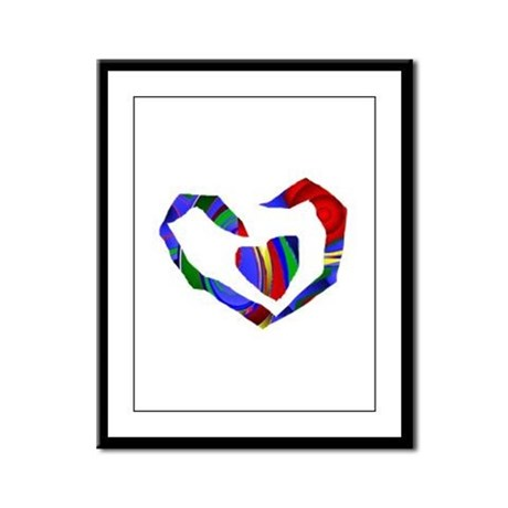 Abstract Heart Framed Panel Print