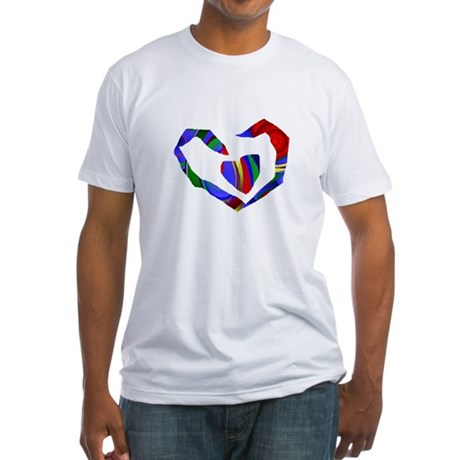 Abstract Heart Fitted T-Shirt