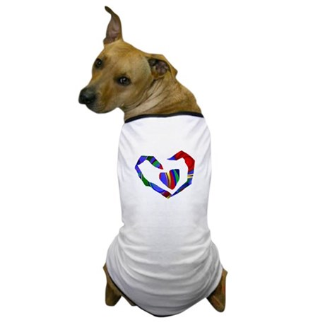 Abstract Heart Dog T-Shirt