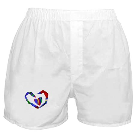 Abstract Heart Boxer Shorts