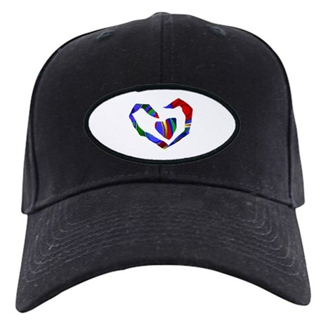 Abstract Heart Black Cap
