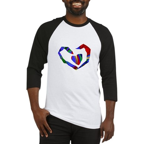 Abstract Heart Baseball Jersey