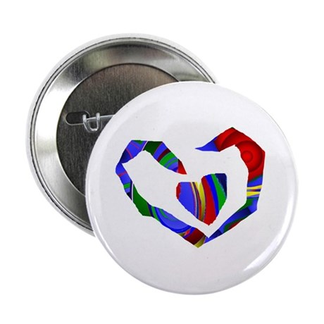 "Abstract Heart 2.25"" Button"