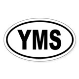 YMS Oval Decal