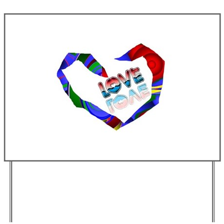 Abstract Love Heart Yard Sign