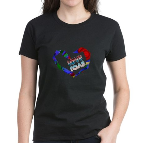 Abstract Love Heart Women's Dark T-Shirt