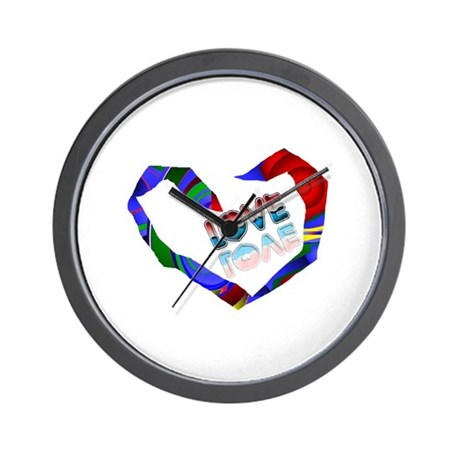 Abstract Love Heart Wall Clock