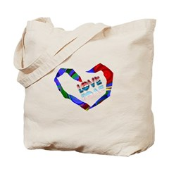 Abstract Love Heart Tote Bag