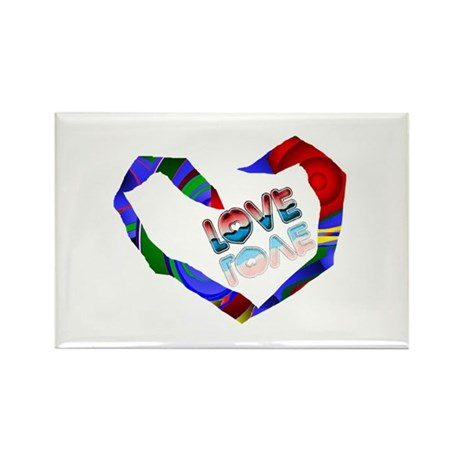 Abstract Love Heart Rectangle Magnet (10 pack)