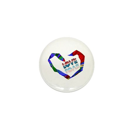 Abstract Love Heart Mini Button