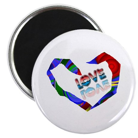 "Abstract Love Heart 2.25"" Magnet (100 pack)"