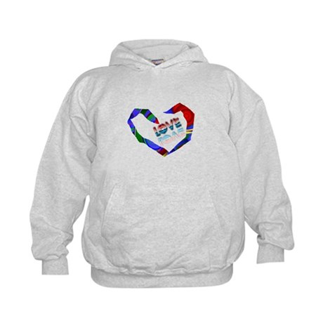 Abstract Love Heart Kids Hoodie