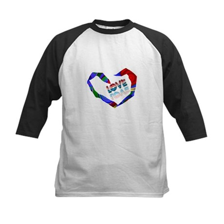 Abstract Love Heart Kids Baseball Jersey