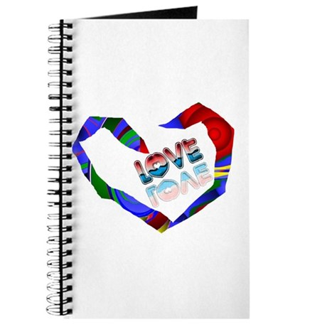 Abstract Love Heart Journal