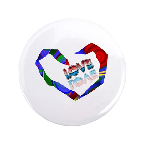"Abstract Love Heart 3.5"" Button (100 pack)"