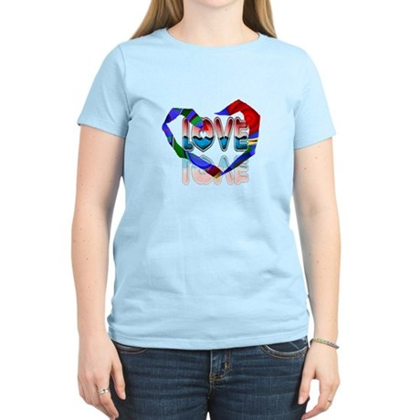 Abstract Love Heart Women's Light T-Shirt