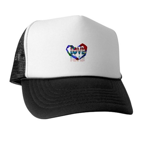 Abstract Love Heart Trucker Hat