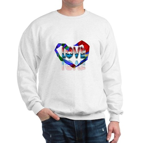 Abstract Love Heart Sweatshirt