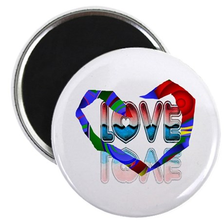 Abstract Love Heart Magnet