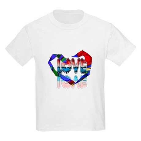 Abstract Love Heart Kids Light T-Shirt