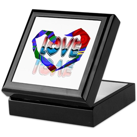 Abstract Love Heart Keepsake Box