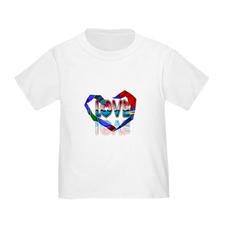 Abstract Love Heart Toddler T-Shirt