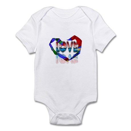 Abstract Love Heart Infant Bodysuit