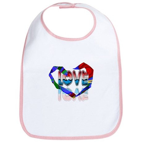 Abstract Love Heart Bib