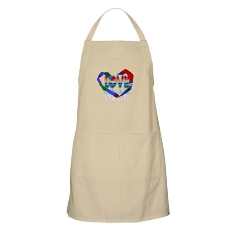 Abstract Love Heart BBQ Apron