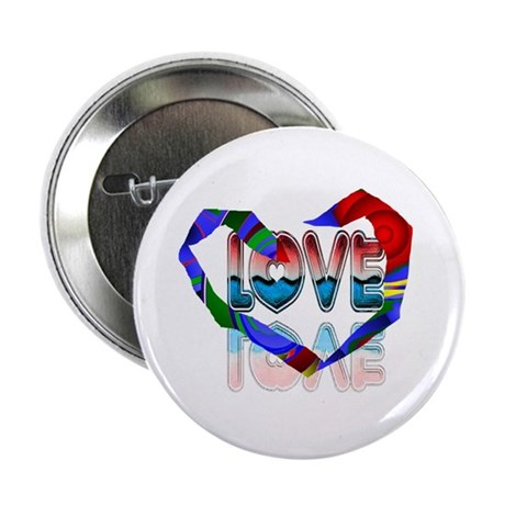 "Abstract Love Heart 2.25"" Button (100 pack)"