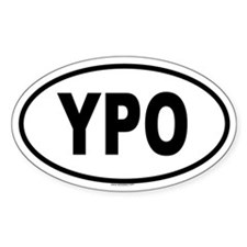 YPO Oval Decal