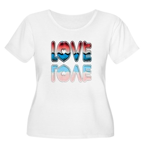 Valentine Love Women's Plus Size Scoop Neck T-Shir