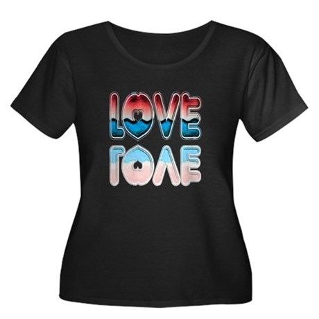 Valentine Love Women's Plus Size Scoop Neck Dark T