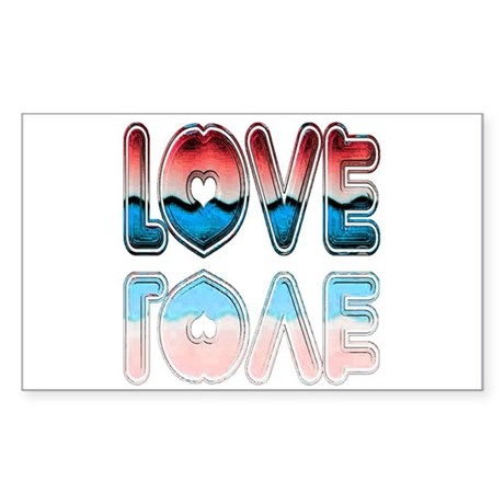 Valentine Love Rectangle Sticker