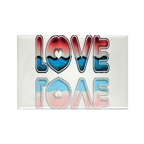 Valentine Love Rectangle Magnet (100 pack)