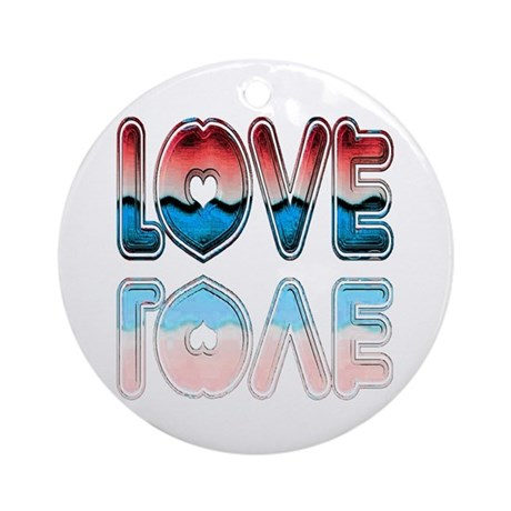 Valentine Love Ornament (Round)