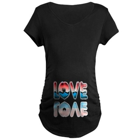 Valentine Love Maternity Dark T-Shirt