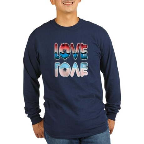 Valentine Love Long Sleeve Dark T-Shirt