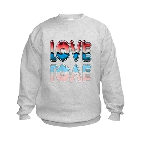 Valentine Love Kids Sweatshirt