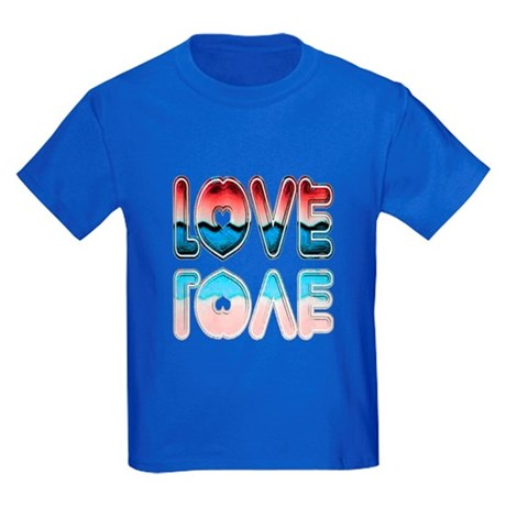 Valentine Love Kids Dark T-Shirt