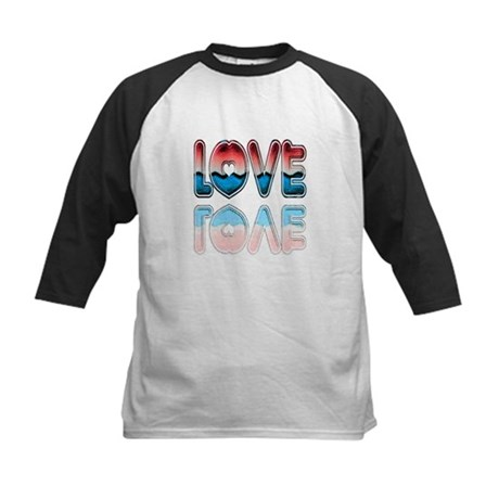 Valentine Love Kids Baseball Jersey