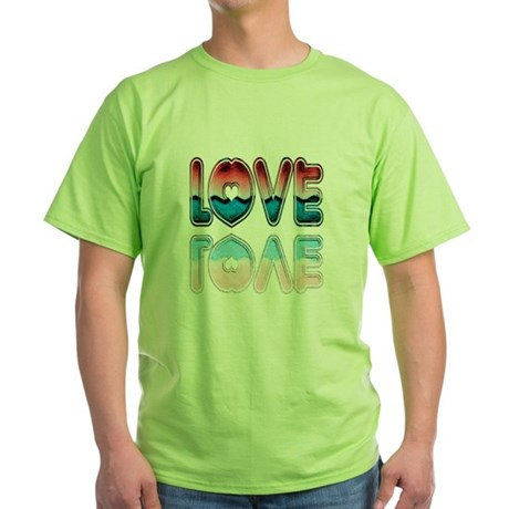 Valentine Love Green T-Shirt